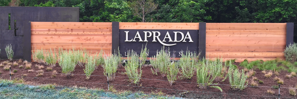 Laprada entry monument